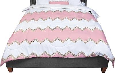 Kess InHouse Heidi Jennings Navy Pink Magenta Blue Cotton King Duvet Cover 104 x 88