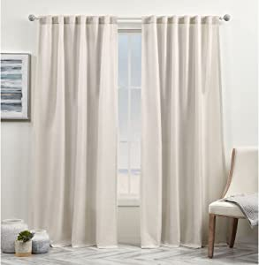 Exclusive Home Curtains Yara Light Filtering Hidden Tab Top Curtain Panels, 54x84, Sand