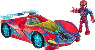 Playskool Heroes Marvel Super Hero Adventures Spider-Man Netto Flitzer, 12 cm groot figuur en voertuigset, kinderen vanaf ...