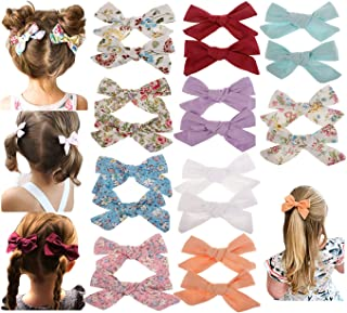 Baby Girls Big Bow Hair Clip Set Alligator Clips Printed...