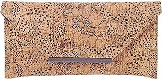 Unique Pattern Laser Cut Cork Envelope Clutch