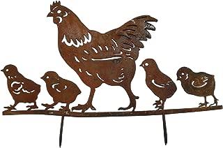 metal chicken silhouette