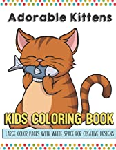 Adorable Kittens Kids Coloring Book Large Color Pages With White Space For Creative Designs
