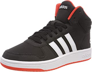 adidas Australia Boys Hoops Mid 2.0 Trainers, Core Black/Footwear White/Hi-Res Red