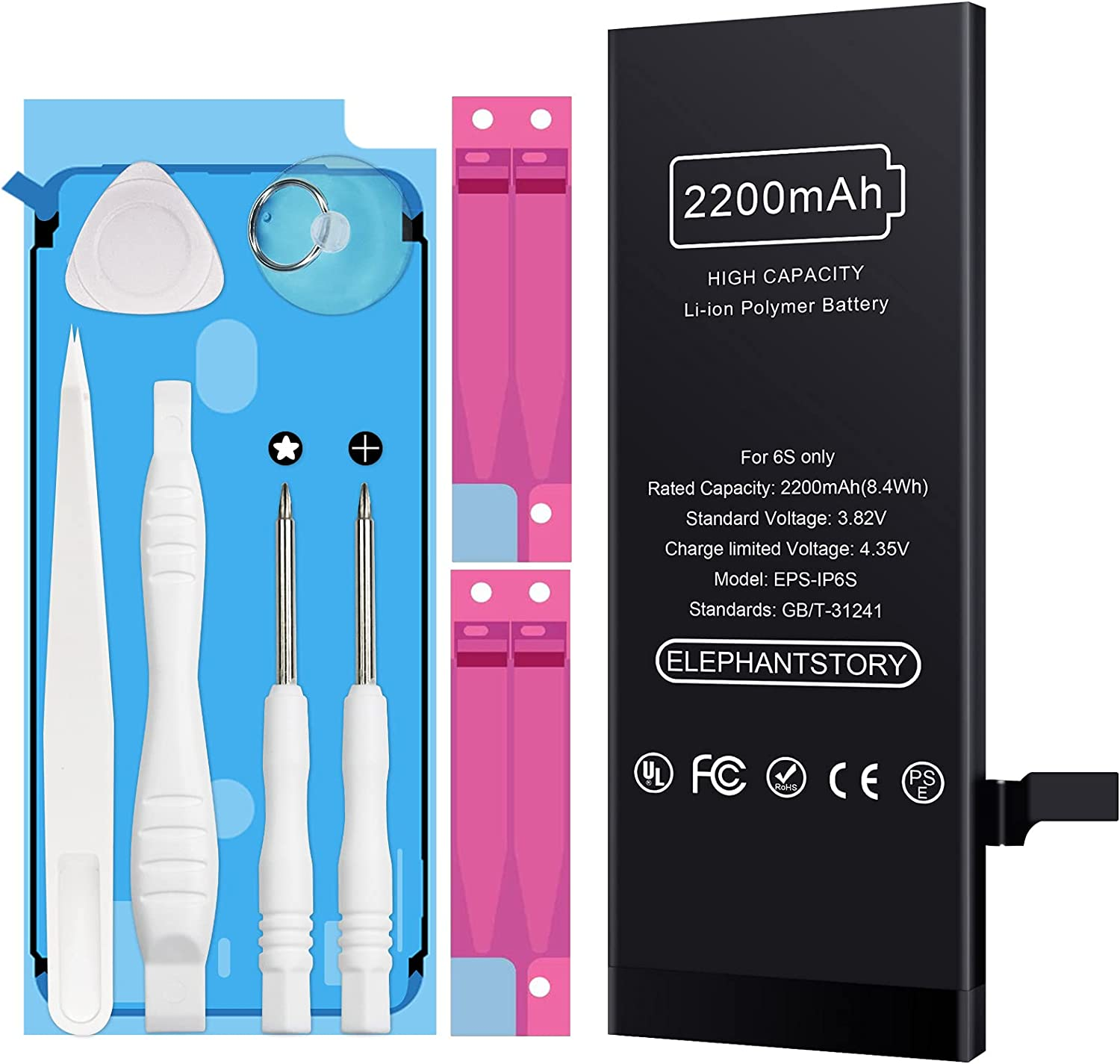 Battery for iPhone 6S Virginia Beach Limited price sale Mall Replacement High-Capacity 2200mah