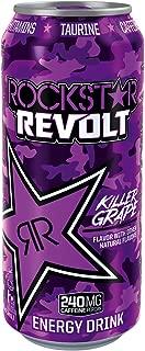 Rockstar Energy Drink Revolt Grape, Grape, 24 Count