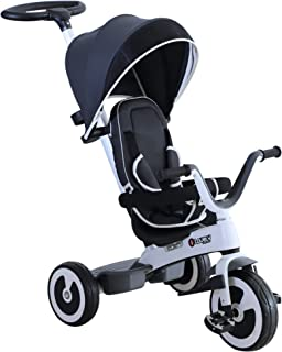 HOMCOM Triciclo Bebé Plegable 4 en 1 Trolley Trike
