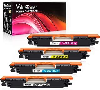 Valuetoner Remanufactured Toner Cartridge Replacement for HP 126A CE310A CE311A CE312A CE313A for Color Laserjet Pro MFP M175 M275 CP1025nw Laser Printer(Black, Cyan, Magenta, Yellow, 4 Pack)