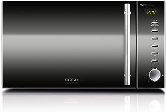 Caso M 20 M20 Electronic-Microondas, 800 W, 20 litros, Acero Inoxidable, Plata
