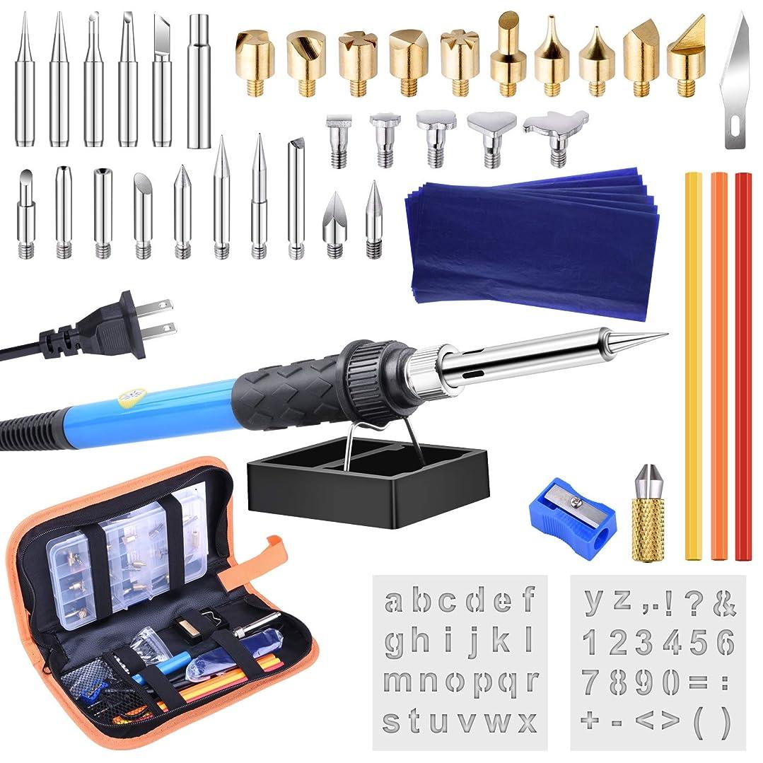 利益メイト助手ETEPON ウッドバーニング セット 電熱ペン 110V/60W 温度調節可能200~450℃ 焼き絵 木彫り DIY 作業工具