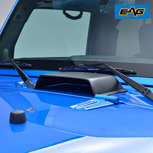 EAG E-Autogrilles Black Heater Air Vent Hood Scoop for 07-18 Wrangler JK