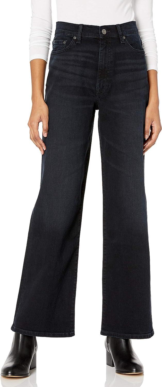 The Drop Women's Lizzy High-Rise Wide Leg Marine Fit Jean