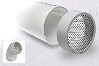 jiangli R1508 PVC Termination Vent Stainless Screen w/Condensation Slot - 2 Inch