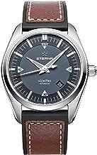 Eterna KonTiki Date Automatic Watch, SW 200-1, Grey, Leather strap
