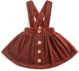 Casual Girl Fall Dress 100% Cotton Corduroy with Pocket