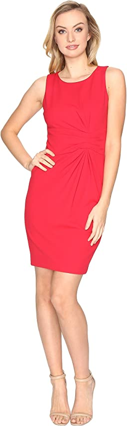 Knot Detail Scuba Crepe Sheath Dress