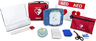 Philips HeartStart OnSite AED Defibrillator Value Package with Slim Carry Case, AED Wall..