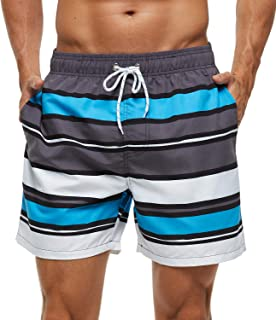 SILKWORLD Men's Swim Trunks Quick Dry Shorts with Pockets