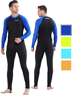 COPOZZ Rash Guard, Full Body Cover Thin Wetsuit, Lycra UV Protection Long Sleeves Sport Dive Skin Suit - Perfect for Swimming/Scuba Diving/Snorkeling/Surfing-One Piece for Men Women&Teens
