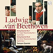 Ludwig van Beethoven. String Quartet No.7 in F Major 'Razumovsky No.1'. Op.59 No.1. String Quartet No.8 in E Minor 'Razumovsky No.2' op.59 No.2