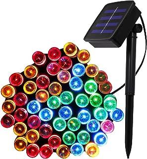 XUNATA 72ft Solar Christmas Light, 200 Units LED 2 Modes Solar Powered Fairy String Lights for Outdoor, Gardens, Homes, We...