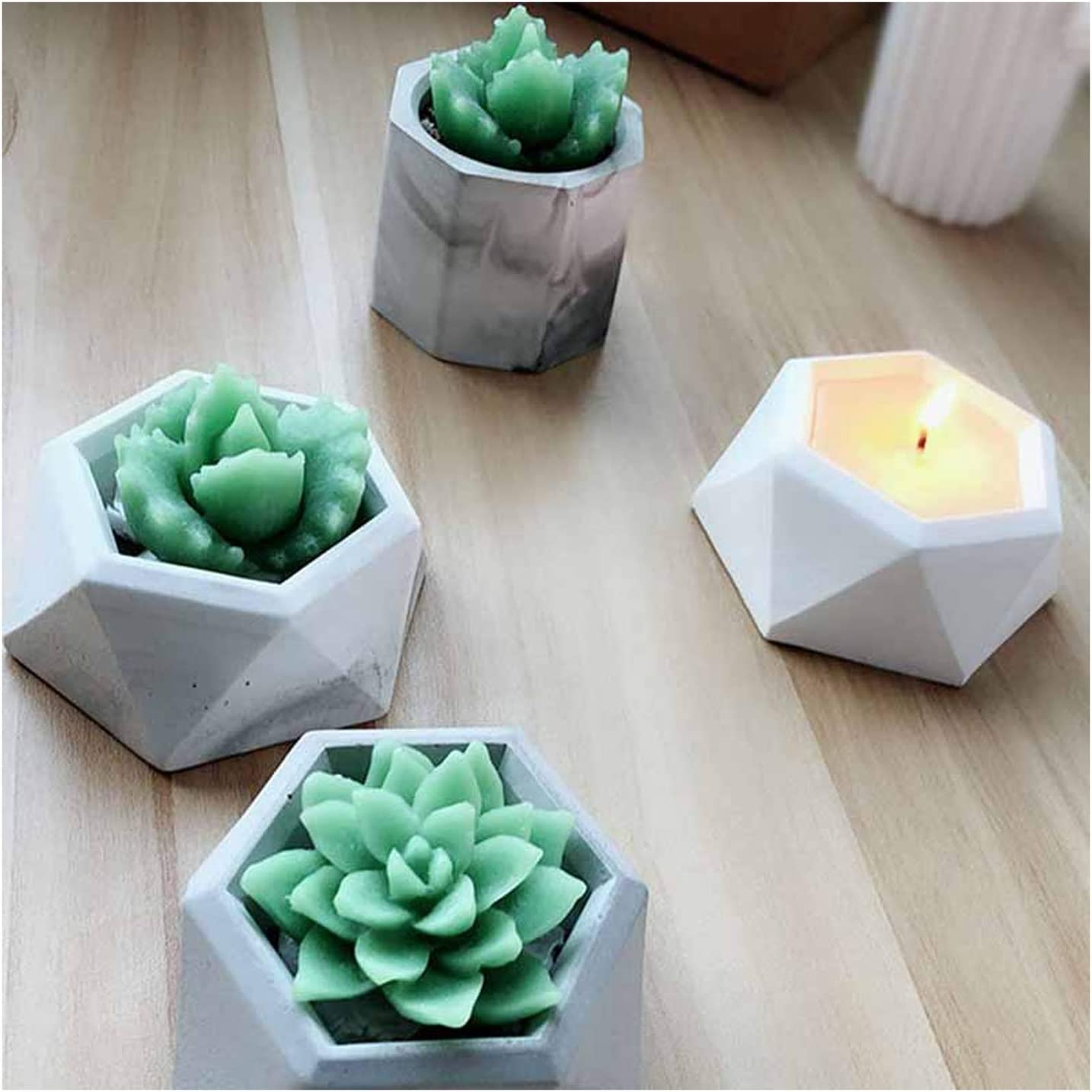Flower Large-scale sale New York Mall Decorative Molding MKLP Resin Pla Silicone Mold Succulent