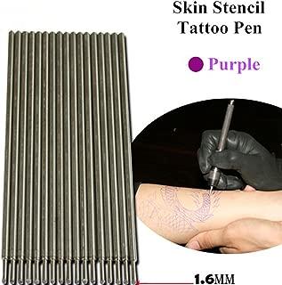20pcs Purple Tattoo Skin Marking Pens for Tattoo Stencil Outline Supply
