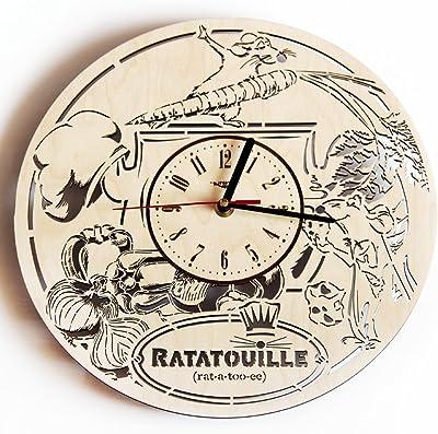 Ratatouille Wood Wall Clock - Original Home Decor for Kids Room Bedroom Kitchen - Best Gift