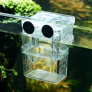 Senzeal 多機能 グッピー 熱帯魚 繁殖隔離ボックス 大 水槽 孵化 産卵箱 水族館アクセサリー (ビッグサイズ)