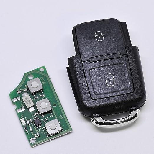 Auto Schlüssel Funk Fernbedienung 1x Gehäuse 1x 434 Mhz Sender Sendeeinheit 1j0959753ag 1x Batterie