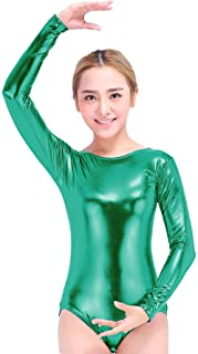 da4d68be35 Speerise Women Long Sleeve Shiny Metallic Lycra Spandex Gymnastics Leotard