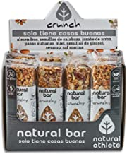 Crunchy Energy Bars Natural AThlete Nuts and Seeds 100 Natural Sugar Free Gluten Free Almonds Squash Seeds Sesame Raisins Pack 12x40gr Estimated Price : £ 21,00