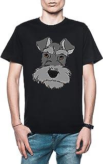Rundi Adorable Miniatura Schnauzer Hombre Camiseta Negro Todos Los Tamaños - Men's T-Shirt Black