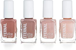 Eternal 4 Collection – Set of 4 Nail Polish: Long Lasting, Mirror Shine, Quick Dry, Neutral Colors (Wild Nudes)