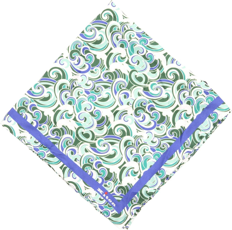 Kiton Napoli Waves Design Silk Pocket Square
