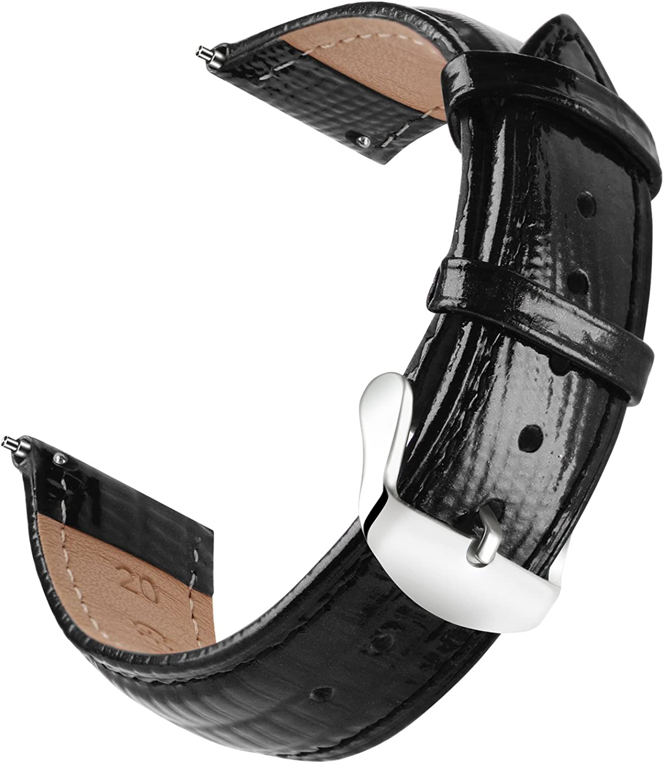 OLLREAR Quick Release Leather Watch Replacement Strap Genuine Le gift Max 69% OFF