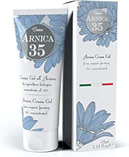 Dulàc - Arnica Gel Cream with a 35% concentration - 2.53 Fl.oz - THE MOST CONCENTRATED - 100% Made in Italy...