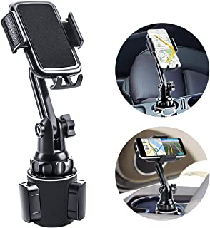 $23 » Car Cup Holder Phone Mount, Mikikin Cell Phone Holder Universal Adjustable Cup Holder Cradle Car Mount with Flexible Long Neck for iPhone 11 Pro/XR/XS Max/X/8/7 Plus/Samsung S10+/Note 9/S8 Plus/S7 Edg