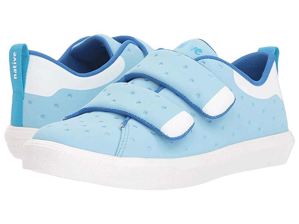 Native Kids Shoes Monaco HL CT (Little Kid) (Sky BlueCoated/Shell White/Shell White) Kids Shoes