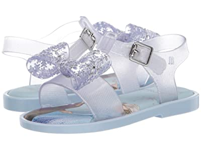 Mini Melissa Mar Sandal + Frozen BB (Toddler/Little Kid) (Silver Glitter) Girl