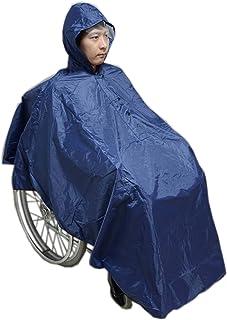 Carecoa 車いすレインコート 車椅子レインコート 収納袋付き 透明バイザーで視界良好 車いす ポンチョ 雨具