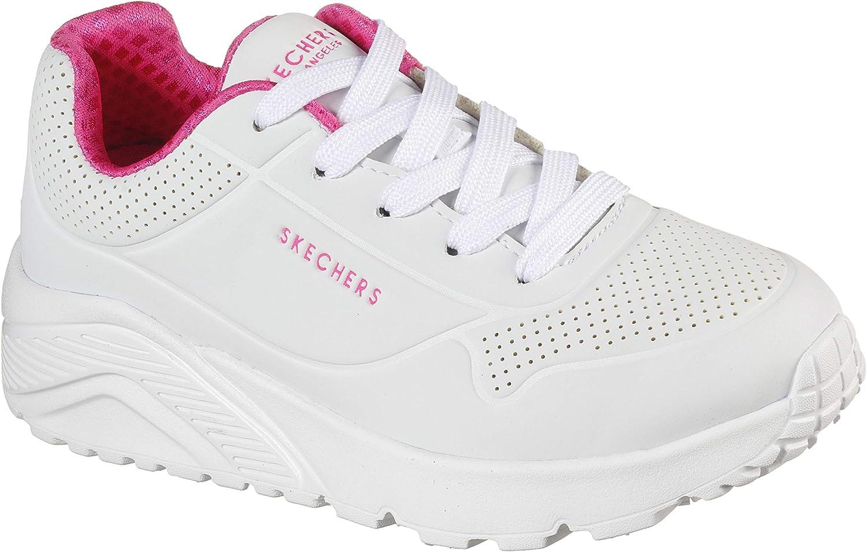 Skechers Unisex-Child White/Pink Sneaker