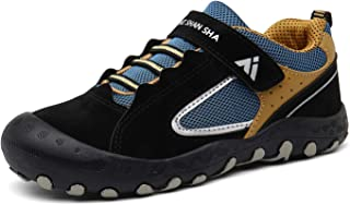 Mishansha Boys Girls Athletic Hiking Shoes Anti Collision Non Slip Outdoor Walking Running Sneakers