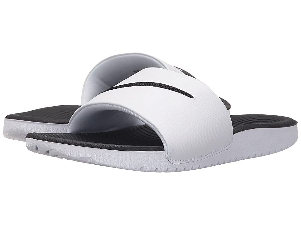 Nike Kids Kawa Slide (Little Kid/Big Kid) (White/Black) Boys Shoes