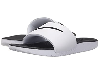 Nike Kids Kawa Slide (Little Kid/Big Kid) (White/Black) Boys Shoes