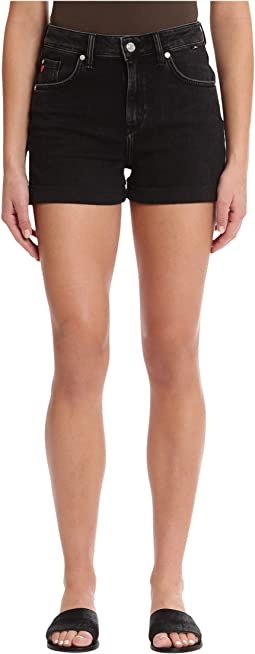 Ella High-Rise Shorts in Dark Smoke '80s