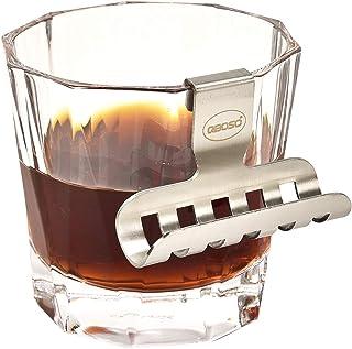Whisky Glass Cigar Holder QBOSO Portable Cigar Holder with Hollow-Carved Design, Whisky Glass-Mate on TheBar Countertop,M...