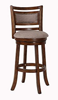 New Classic Furniture New Classic Aberdeen Swivel Bar Stool, Dark Brown, 29-Inch
