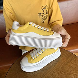 YIBEIANYU Muffin Bottom White Shoes Female Summer New Increase Net Red Korean Canvas Shoes Casual Thick Bottom Shoes