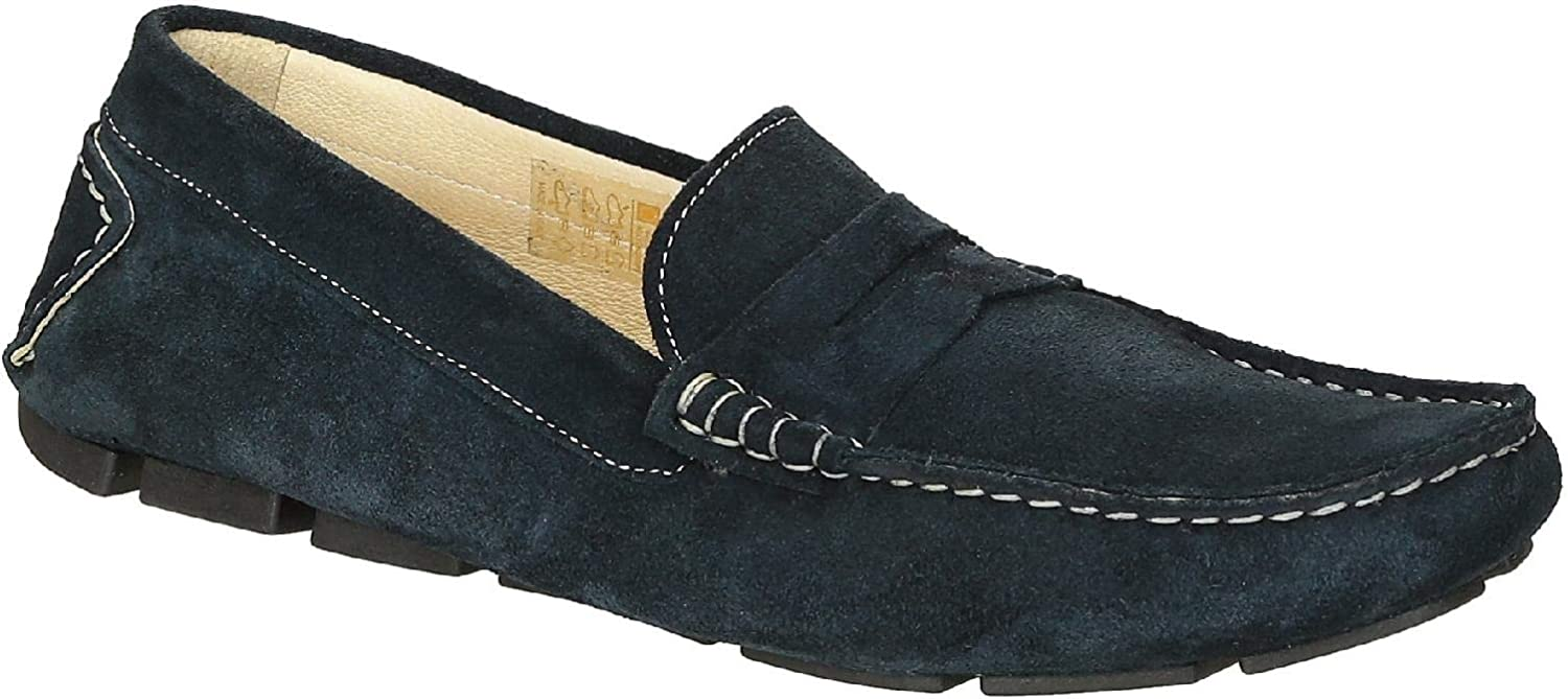 Leonardo Shoes Men's Leather Suede Manmade Loafers Shoes